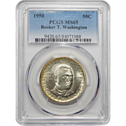 1950 Pcgs MS65 Booker T. Washington Half Dollar