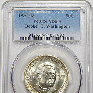 1951-D Pcgs MS65 Booker T. Washington Half Dollar
