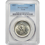 1937 Pcgs MS64 Texas Half Dollar