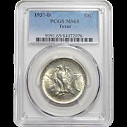 1937-D Pcgs MS65 Texas Half Dollar