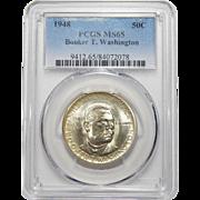 1948 Pcgs MS65 Booker T. Washington Half Dollar