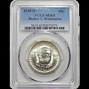 1948-D Pcgs MS65 Booker T. Washington Half Dollar