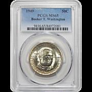 1949 Pcgs MS65 Booker T. Washington Half Dollar