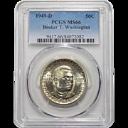 1949-D Pcgs MS66 Booker T. Washington Half Dollar