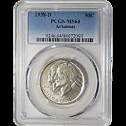 1938-D Pcgs MS64 Arkansas Half Dollar