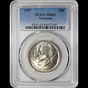 1937 Pcgs MS65 Arkansas Half Dollar