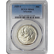 1935-S Pcgs MS64 Arkansas Half Dollar