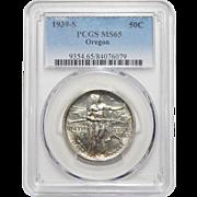 1939-S Pcgs MS65 Oregon Half Dollar