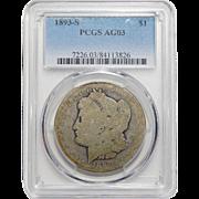 1893-S Pcgs AG3 Morgan Dollar