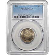"1890 Pcgs PR65 Liberty ""V"" Nickel"