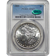 1886 Pcgs/Cac MS67 Morgan Dollar