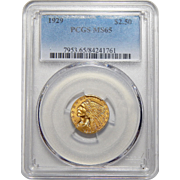1929 Pcgs MS65 $2.50 Indian Gold