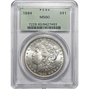 1894 Pcgs MS60 Morgan Dollar