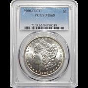 1900-O/CC Pcgs MS65 Morgan Dollar