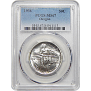 1936 Pcgs MS67 Oregon Half Dollar