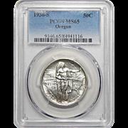 1936-S Pcgs MS65 Oregon Half Dollar