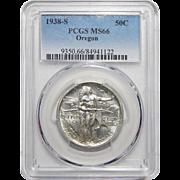 1938-S Pcgs MS66 Oregon Half Dollar