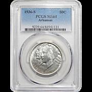 1936-S Pcgs MS64 Arkansas Half Dollar