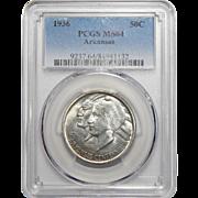 1936 Pcgs MS64 Arkansas Half Dollar