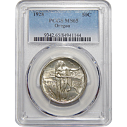 1928 Pcgs MS65 Oregon Half Dollar