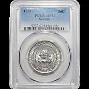 1936 Pcgs MS67 Norfolk Half Dollar