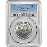 1937 Pcgs MS64 Arkansas Half Dollar