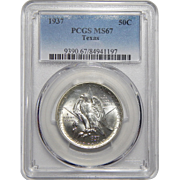 1937 Pcgs MS67 Texas Half Dollar