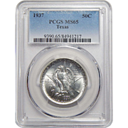 1937 Pcgs MS65 Texas Half Dollar