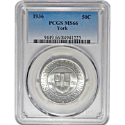 1936 Pcgs MS66 York Half Dollar