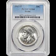 1937-D Pcgs MS64 Boone Half Dollar