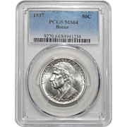 1937 Pcgs MS64 Boone Half Dollar