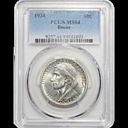 1934 Pcgs MS64 Boone Half Dollar
