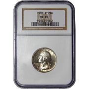 1934-D Ngc MS65 Washington Quarter