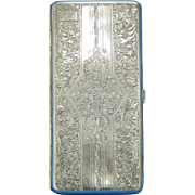 Sterling Silver Hand Engraved Cigarette Case w/ Nude Interior Engraving