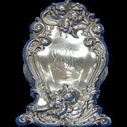 "Art Nouveau Paper Clip Sterling Silver Woodside 3"" long/tall"