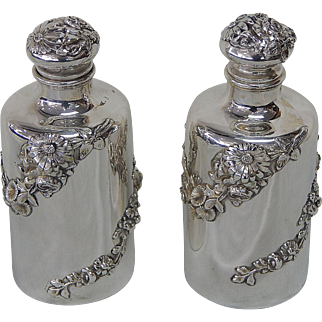 Two Ornate Sterling Vanity Bottles by Mauser R048