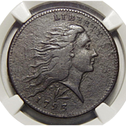 1793 NGC VF25BN Flowing Hair Large Cent w/ Wreath Vine and Bars Edge
