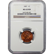 1897 NGC MS63RD Indian Head Cent