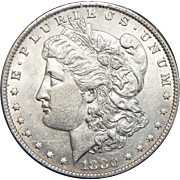 1880-O AU58 Morgan Dollar