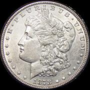 1878 7TF Reverse of 1878 AU50 Morgan Dollar