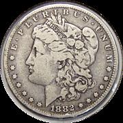 1882-O/S Strong F12 Morgan Dollar