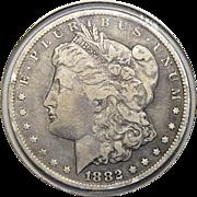 1882-CC VF25 Morgan Dollar