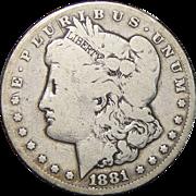 1881-CC Morgan Dollar (Reverse Damage)