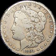 1881-CC Morgan Dollar (Slight Damage)