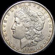 1878 7TF Reverse of 1879 AU53 Morgan Dollar