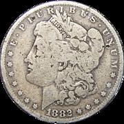 1882-O/S Weak Morgan Dollar (Slight Damage)