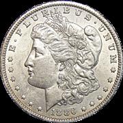 1886-O AU55 Morgan Dollar
