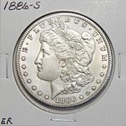 1886-S AU55 Morgan Dollar