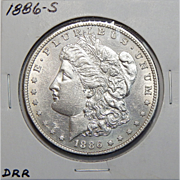 1886-S AU58 Morgan Dollar