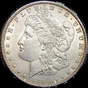 1889 AU55 Vam-19A,Bar-Wing Morgan Dollar